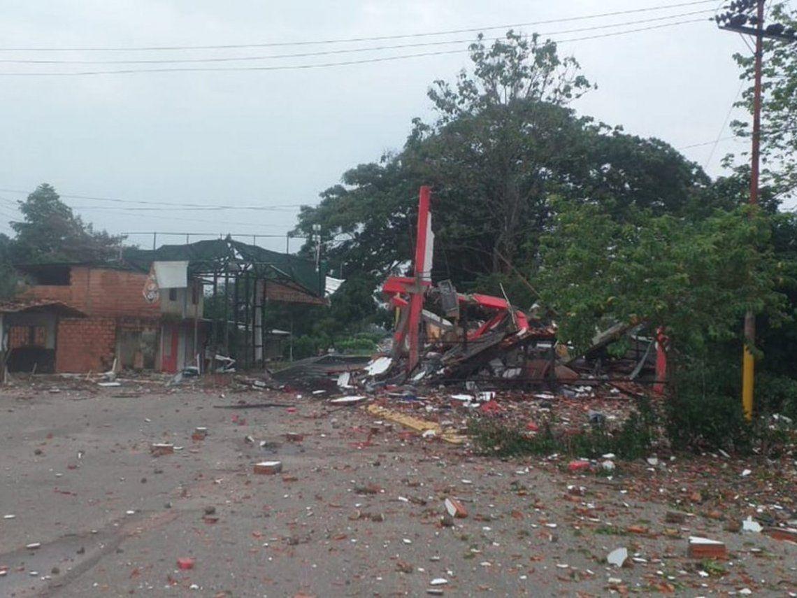 El puesto fronterizo venezolano atacado por las FARC.