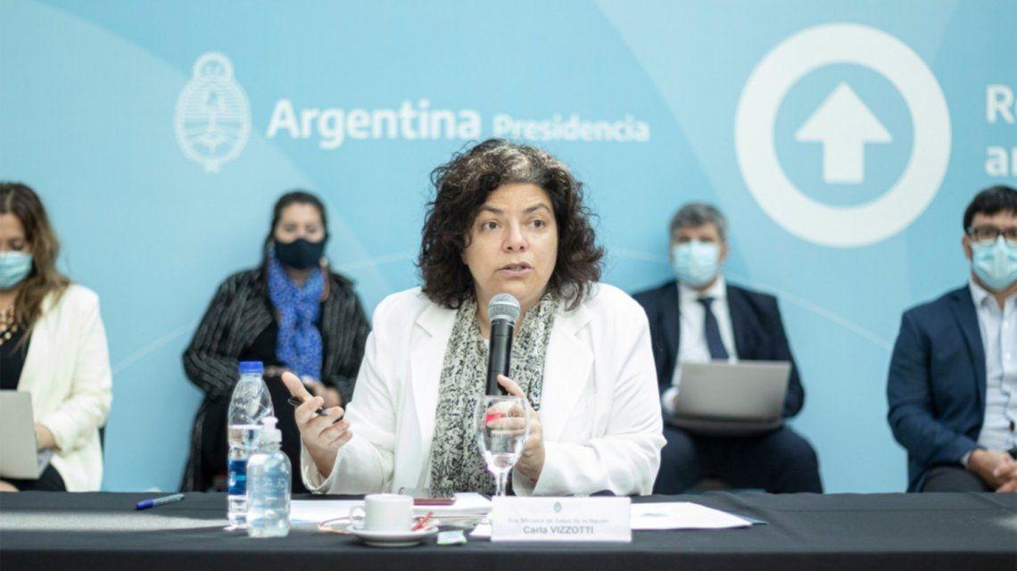 Carla Vizzotti encabezó una conferencia de prensa ante el aumento de casos.