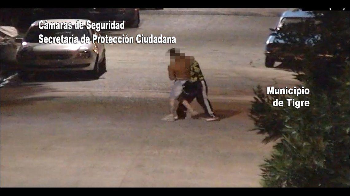 Tigre: golpea a su mujer y lo captan las cámaras de seguridad.