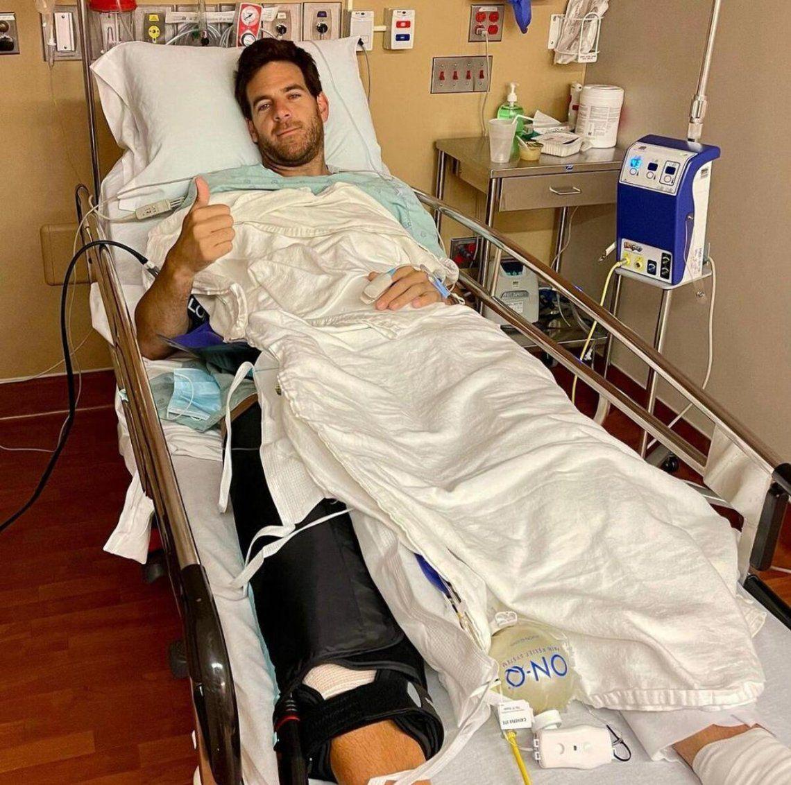 Del Potro se recupera de la operación de rodilla
