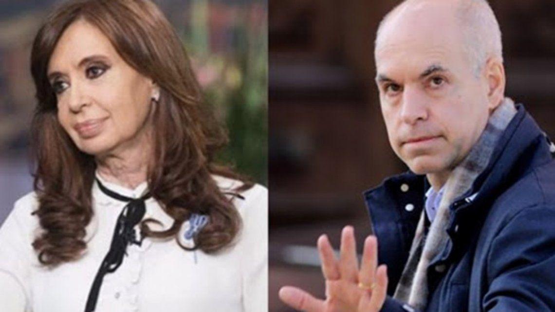 Cristina Kirchner elogió a Horacio Rodríguez Larreta
