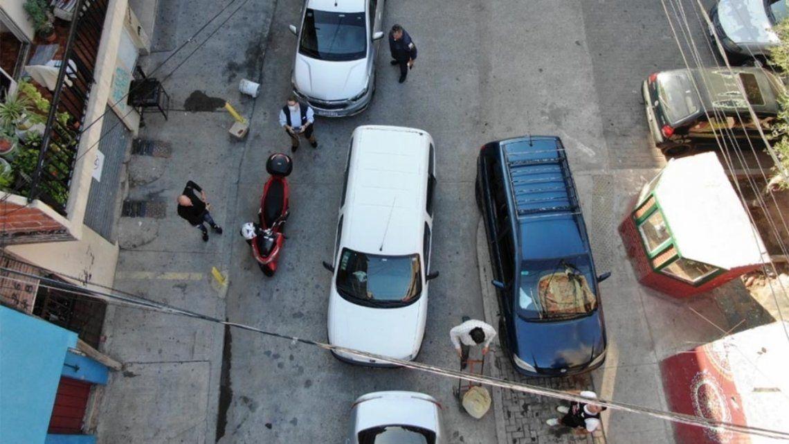 Tras el operativo se detuvieron a cuatro personas.
