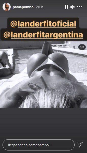 Pamela Pombo, muy sexy al sol y en traje de baño
