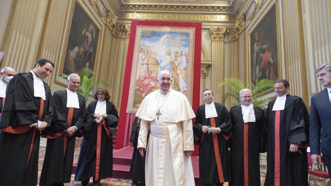El Papa Francisco animó a una lucha más eficaz contra los delitos financieros. Foto: Vaican News