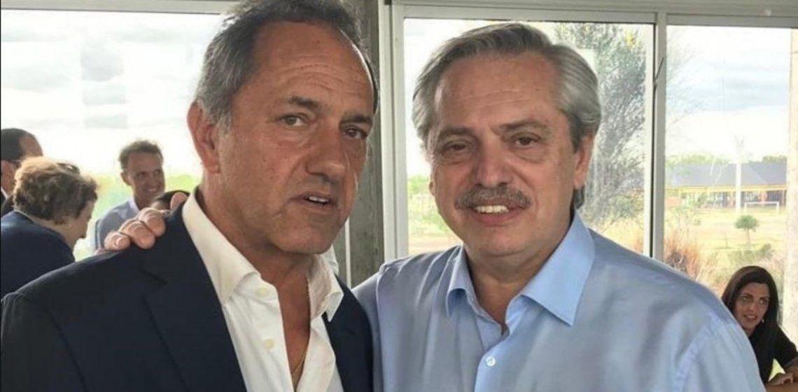Daniel Scioli y el presidente Alberto Fernández