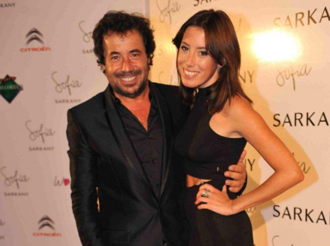 Ricky Sarkany y su hija