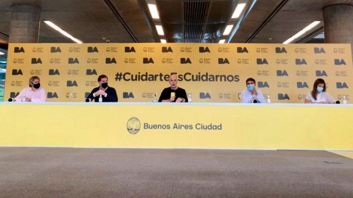 Larreta brindó una conferencia sobre la vacunación contra el coronavirus en la Ciudad.