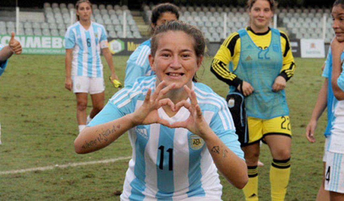 yamila Rodríguez integra el plantel de la selección femenina de fútbol que viajará a Europa