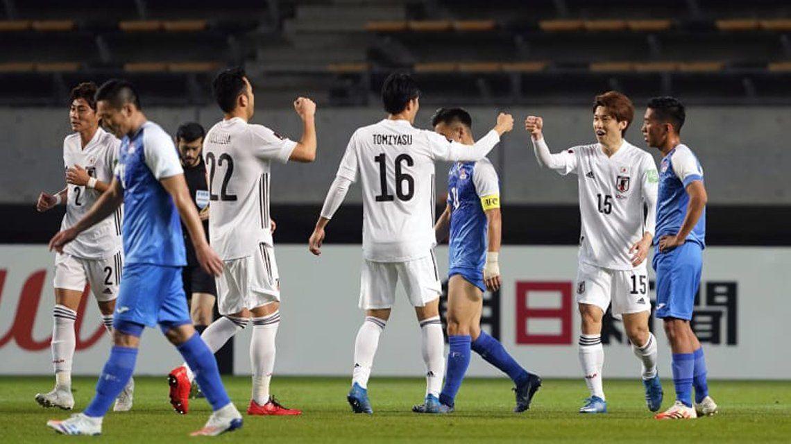 Japón aplastó a Mongolia ¡14-0!