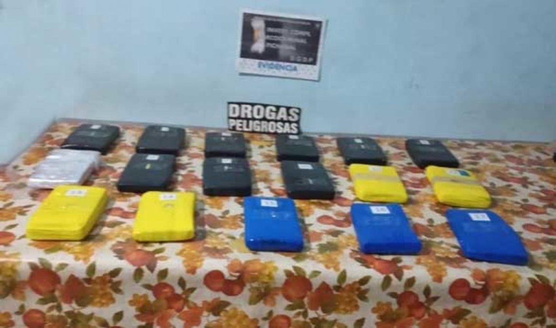 En Salta se decomisaron 17 kilos de cocaína