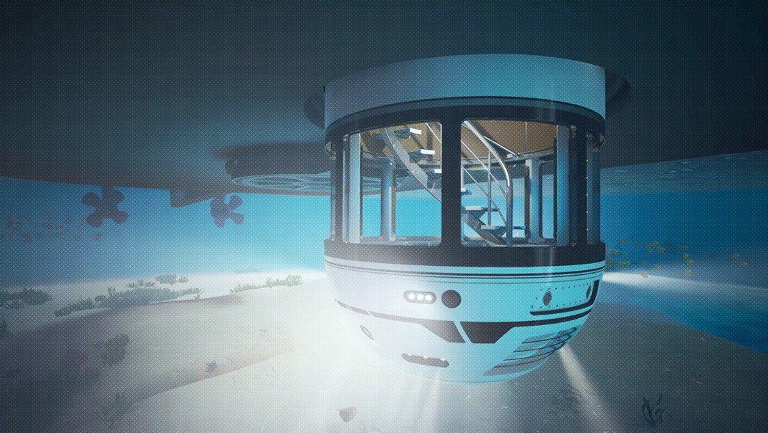 Hydrosphere  permite que hasta siete tripulantes disfruten de una vista submarina de 360 grados.