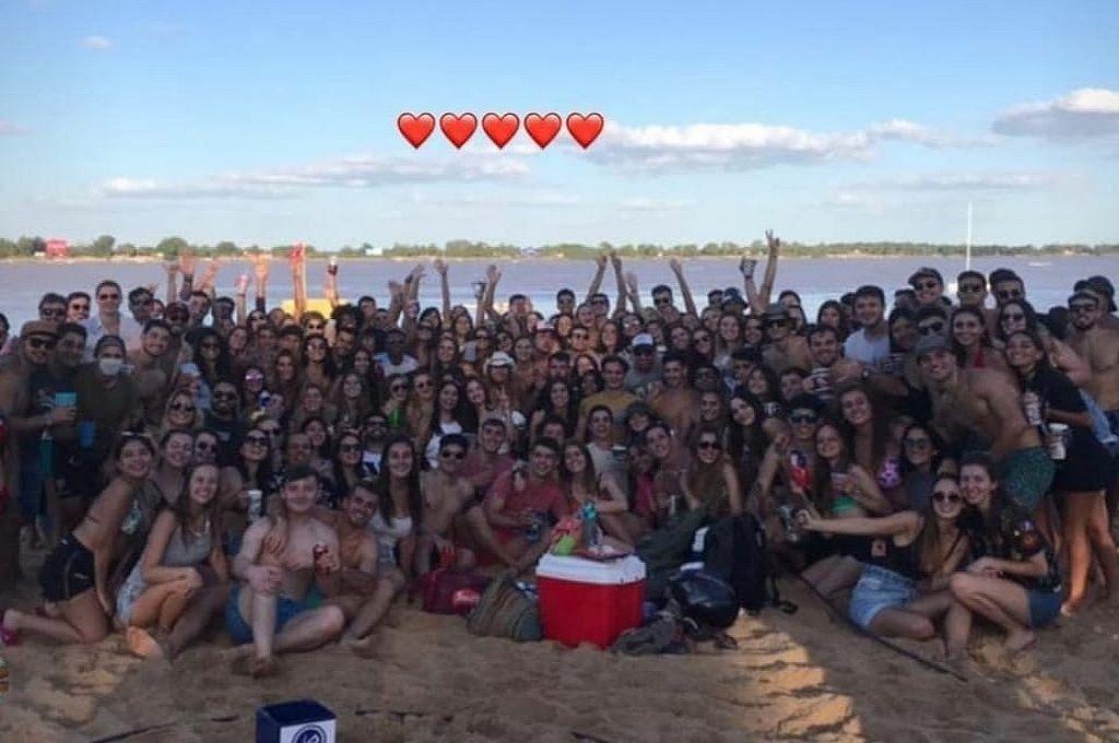 Rosario: un video del festejo de estudiantes de hizo viral.