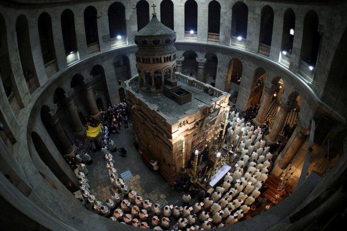 Ceremonia del Lavatorio en la Iglesia del Santo Sepulcro en Jerusalén