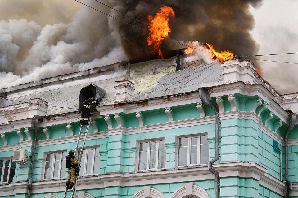 Rusia: incendio en un hospital.