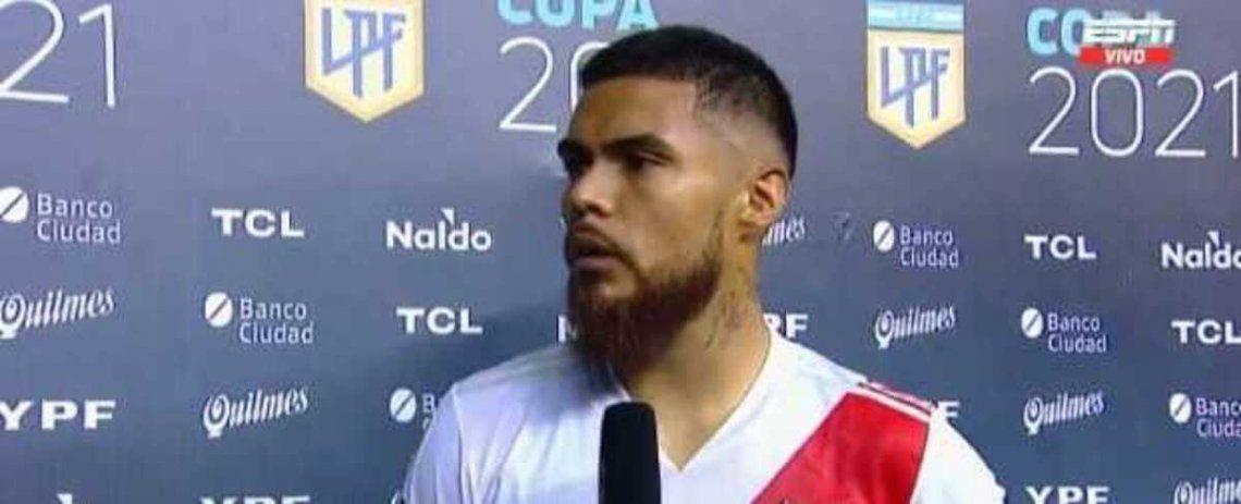 Paulo Díaz analizó el empate de River.