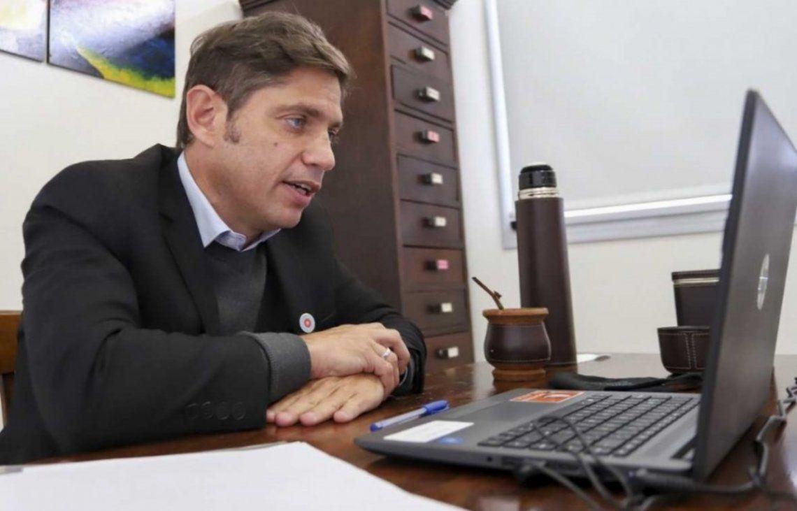 Kicillof mantuvo una videollamada con Alberto Fernández ante el aumento de casos de coronavirus.