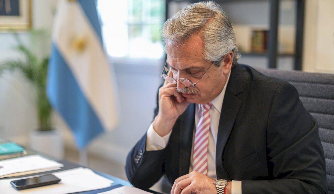 Alberto Fernández se encuentra aislado en la residencia de Olivos.