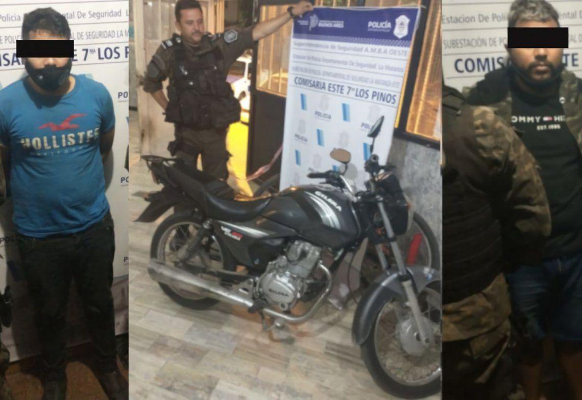El delito más temido y la imagen de un caso que terminó con dos motochorros presos en La Matanza.