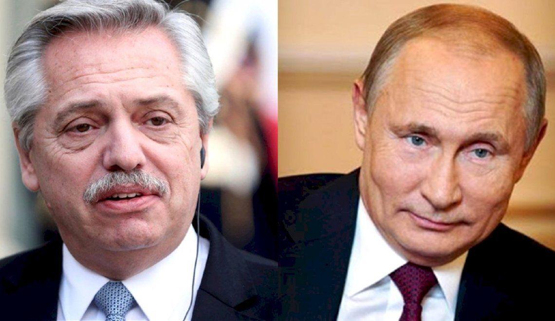 Putin se comunicó con Alberto Fernández tras confirmarse el contagio.