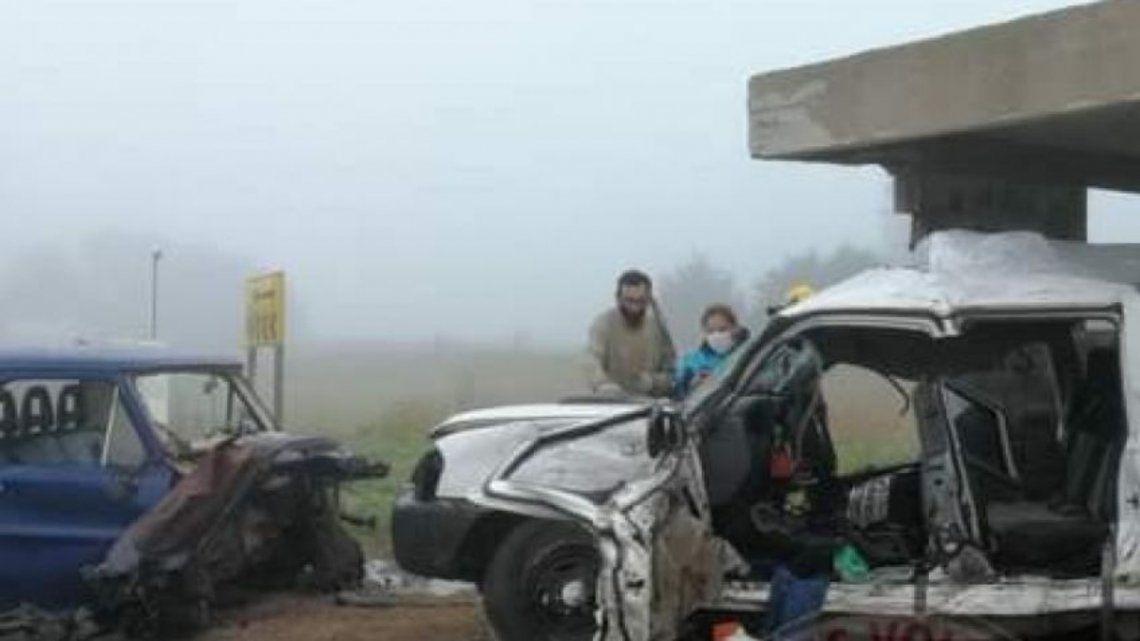 Las imágenes del impacto son elocuentes de la magnitud del accidente.