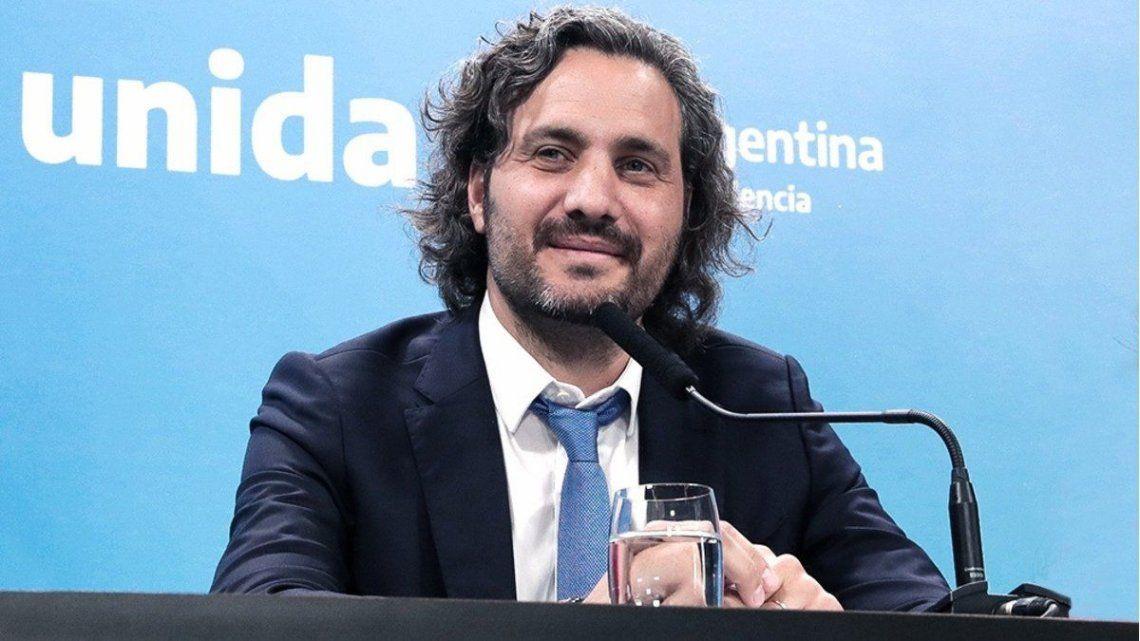 Santiago Cafiero indicó que no está prohbido salir al mercado externo a comprar vacunas.