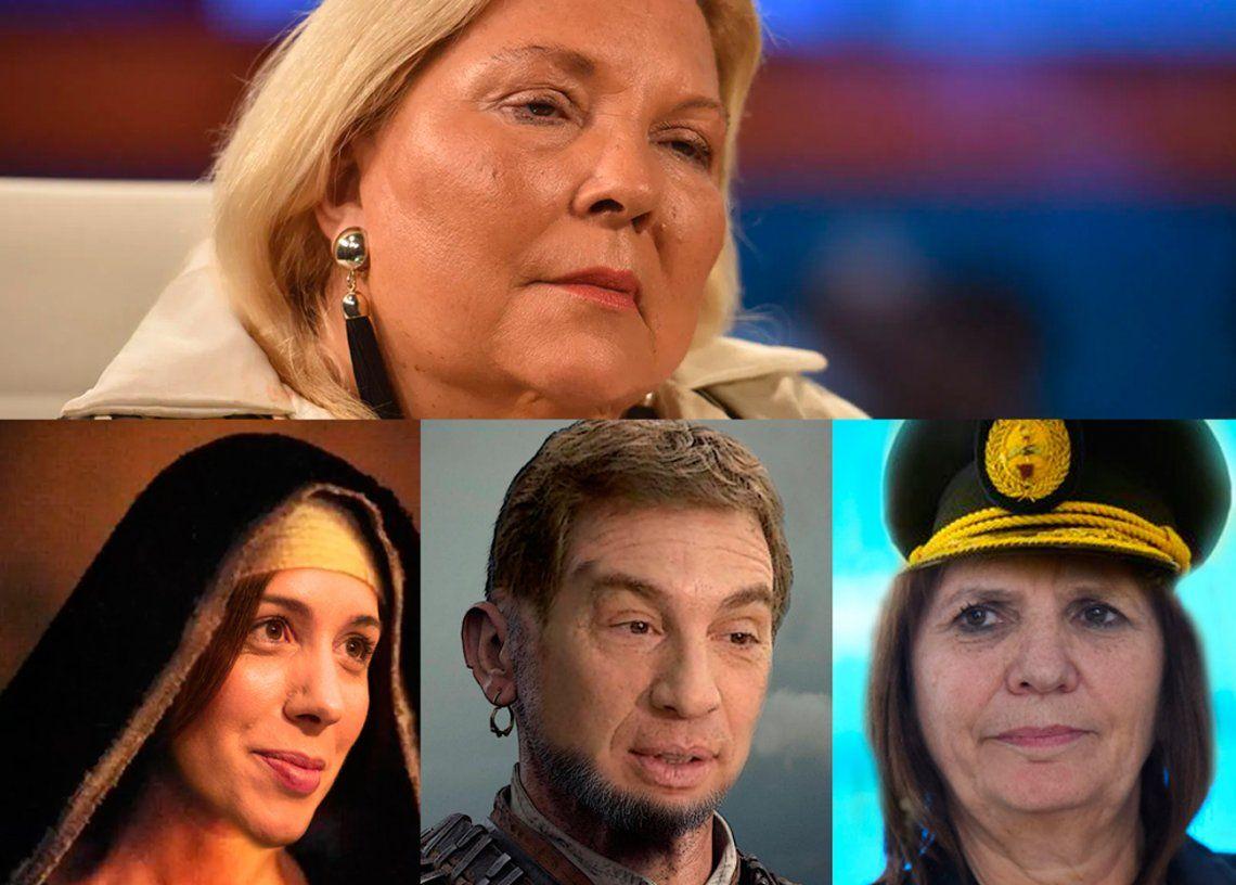 Carrió observa a los precandidatos de Juntos por el Cambio a las legislativas
