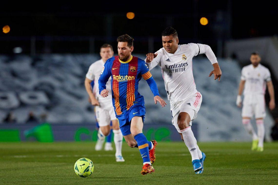 Escaso aportye de Lionel Messi en la caída del Barcelona ante Real Madrid