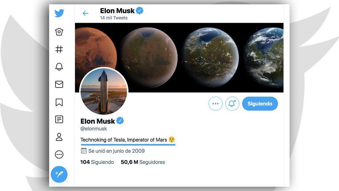 El multimillonario Elon Musk ya se había autodenominado hace algunas semanas Tecno Rey de Tesla.