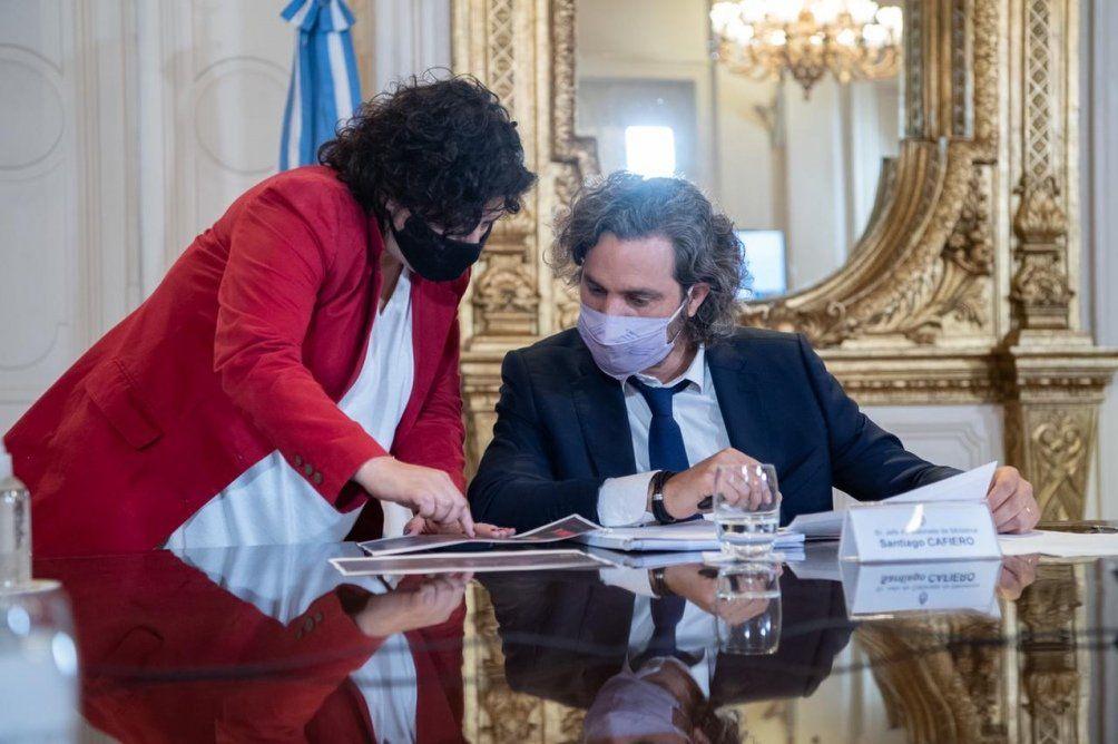 Santiago Cafiero encabezó la reunión en casa de gobierno