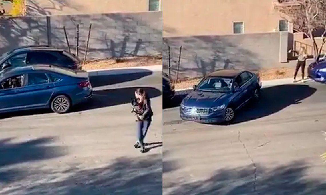 Video viral: intenta estacionar y se lleva una increíble sorpresa