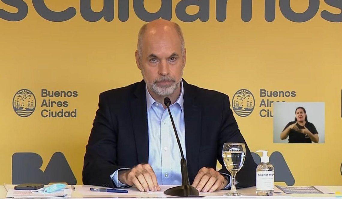 Larreta brindó una dura conferencia tras el anuncio de las nuevas medidas restrictivas.