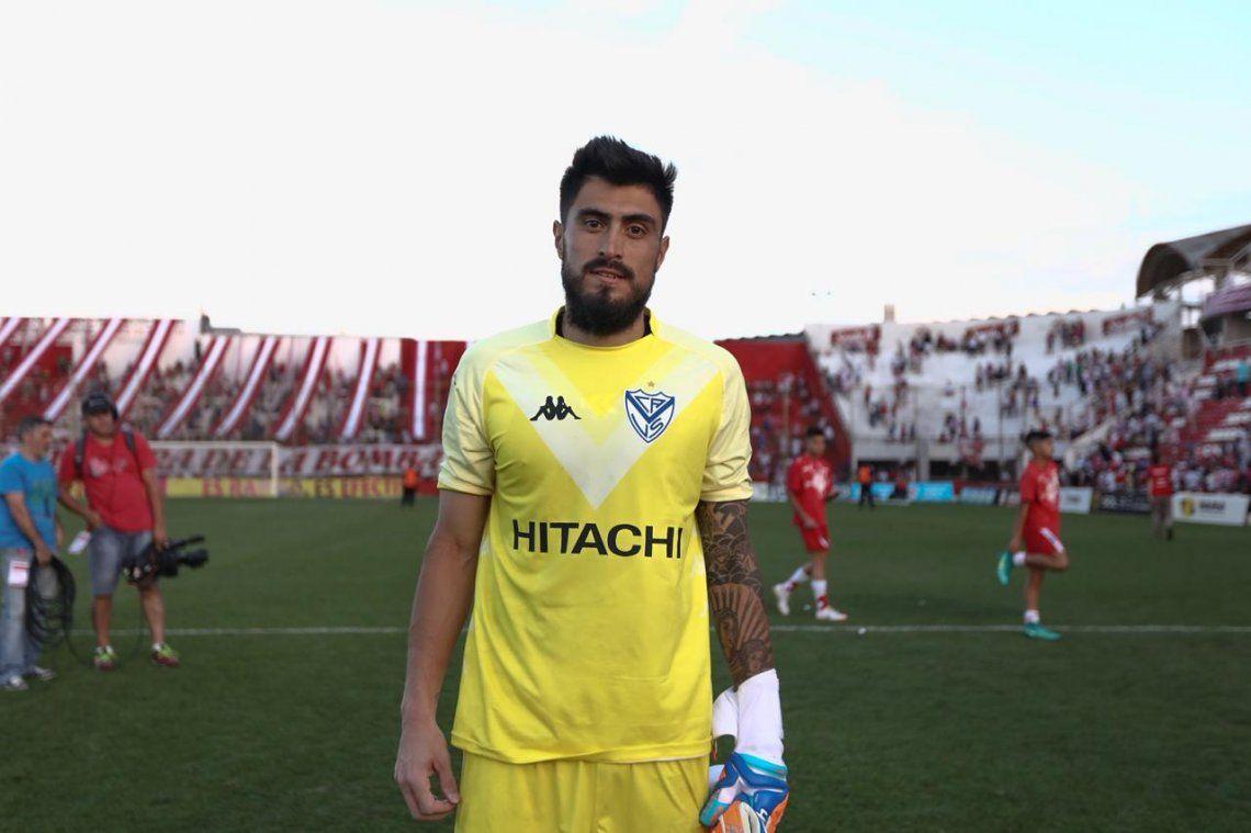 Lucas Hoyos aporta seguridad en el arco de Vélez Sarsfield
