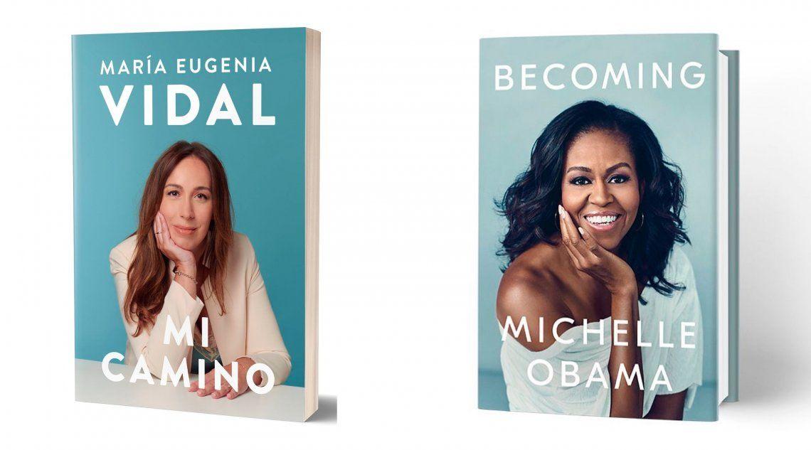 María Eugenia Vidal y Michelle Obama: libros con tapas muy parecidas