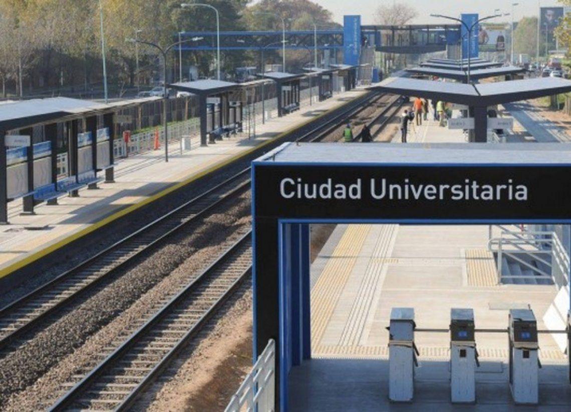 Ocurrió en la estación de tren de Ciudad Universitaria