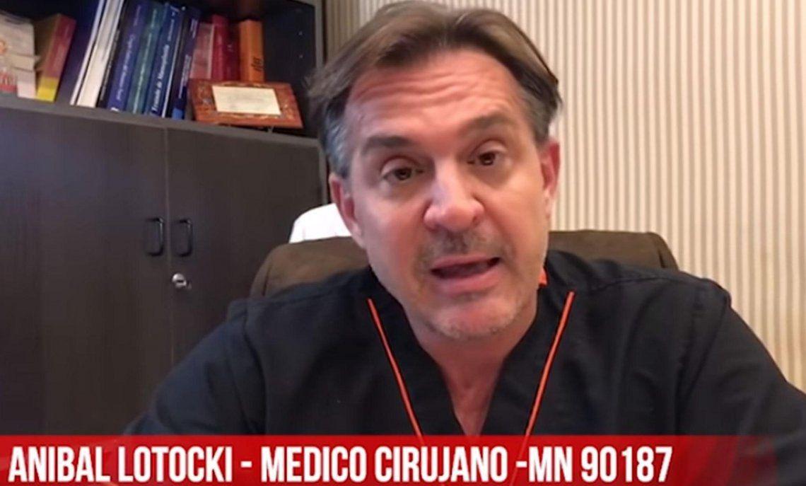 Aníbal Lotocki investigado por una muerte en su clínica