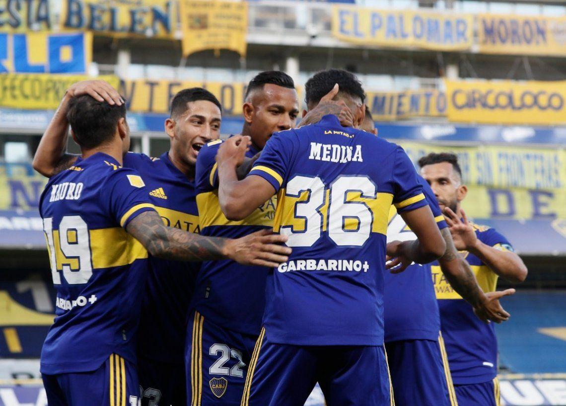Boca golpeó de entrada y venció al Decano en La Bombonera
