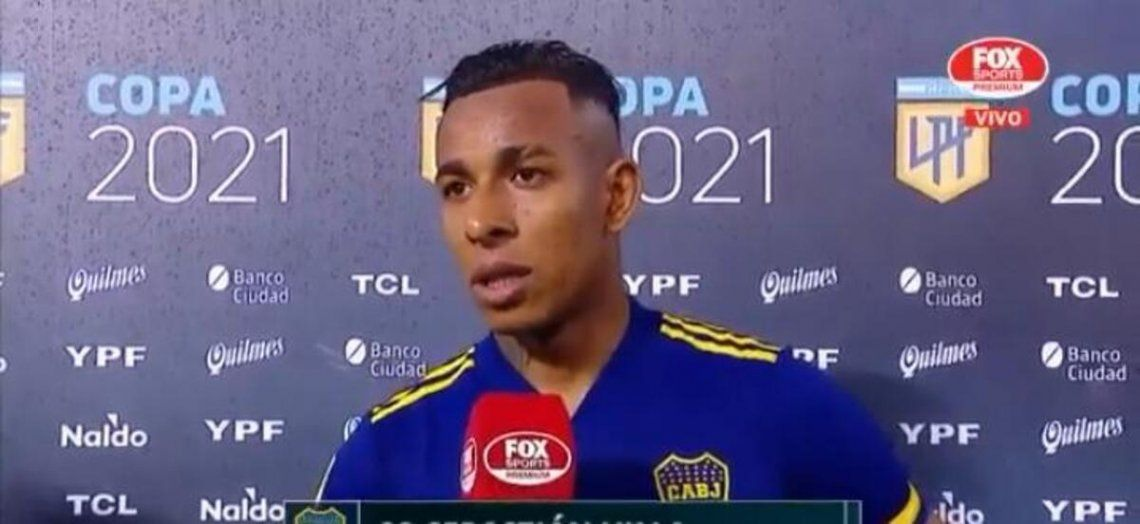 Sebastián Villa marcó el segundo de los tres goles de Boca.