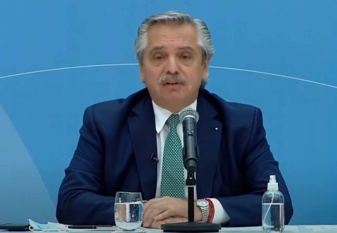Alberto Fernández brindó una conferencia de prensa en el Museo del Bicentenario.