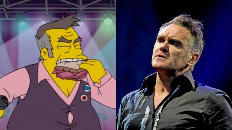 Morrissey se enojó con Los Simpson por como lo ridiculizaron