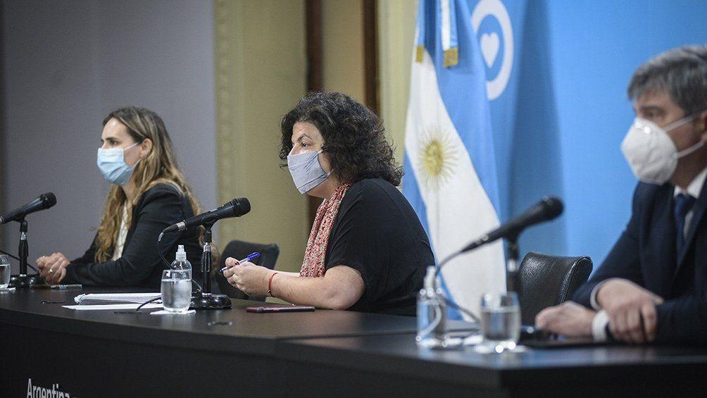Vizzotti brindó su habitual conferencia de prensa semanal en la Casa de Gobierno.