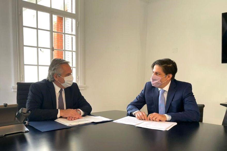 Alberto Fernández se reunió esta mañana con el ministro de Educación