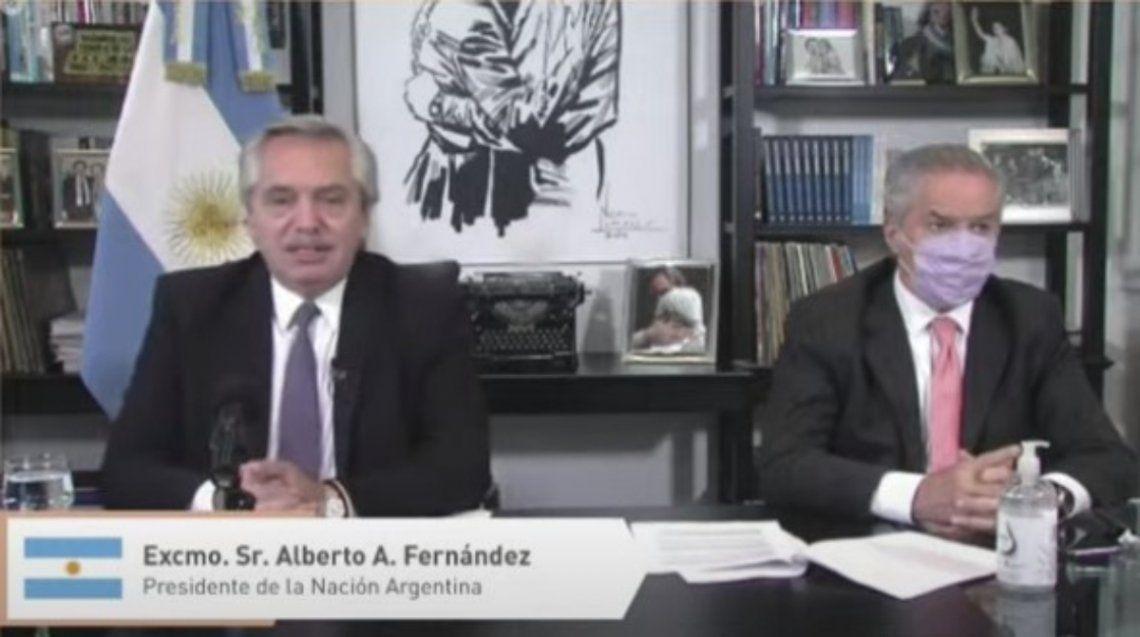 El presidente Alberto Fernández participó de la Cumbre junto al canciller Felipe Solá.
