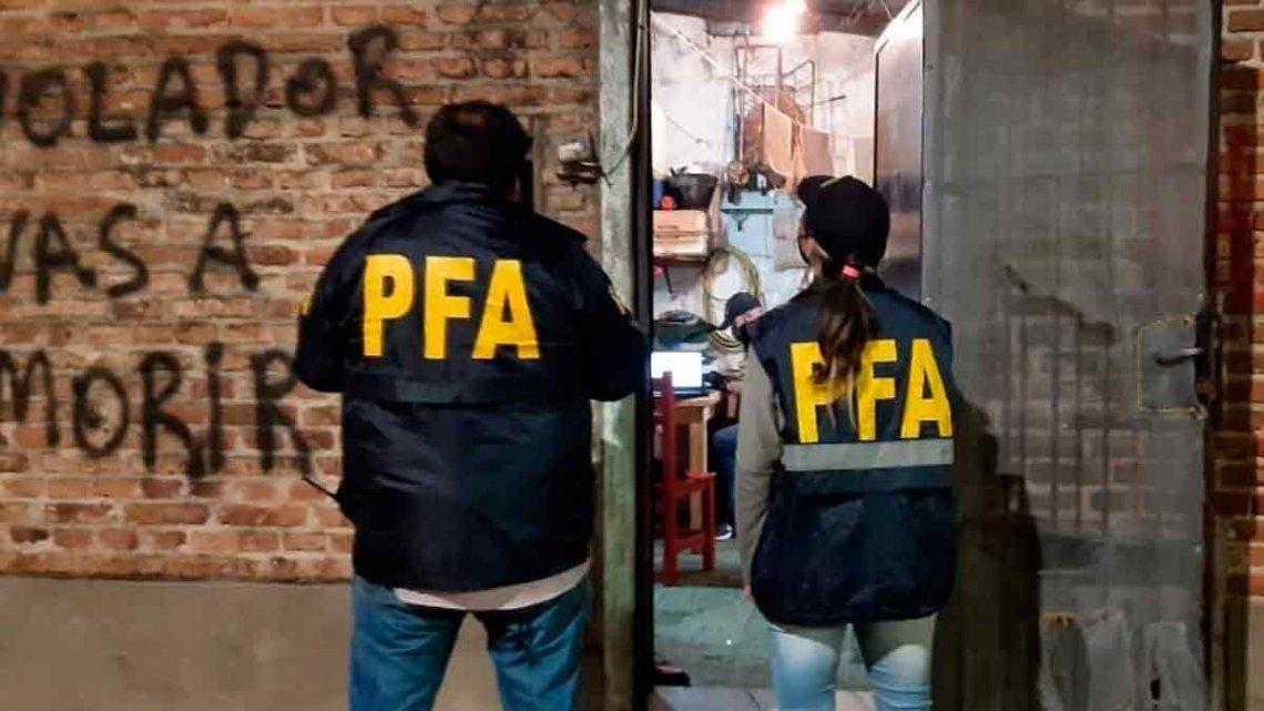 La Policía Federal estuvo a cargo del operativo que detuvo a la pareja.