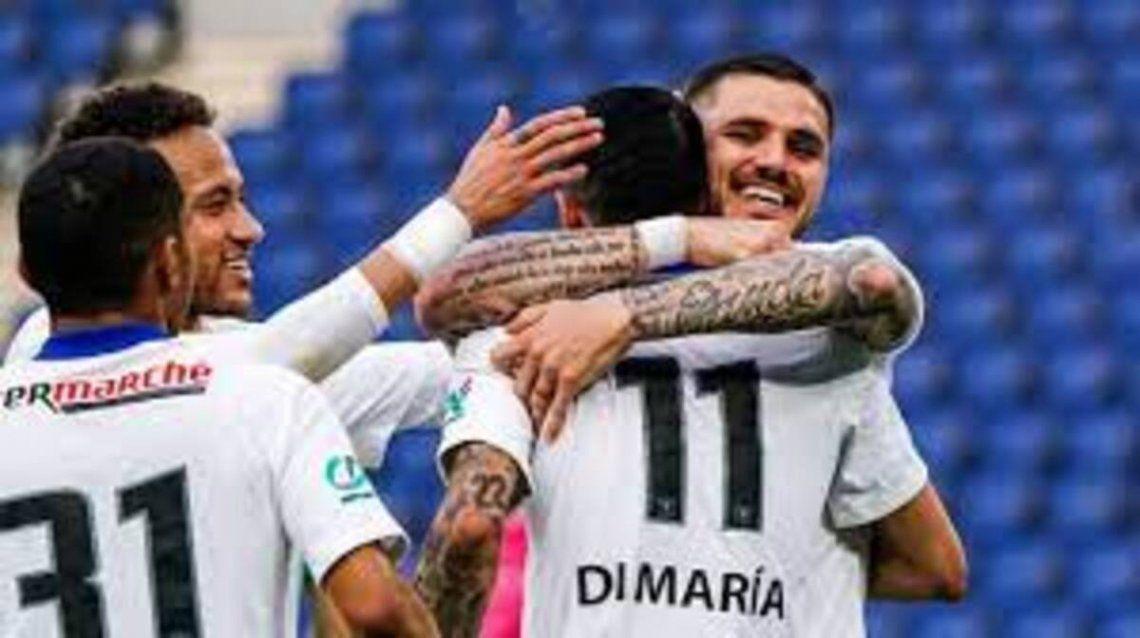 El PSG ganó 5-0 y se metió en las semifinales de la Copa de Francia