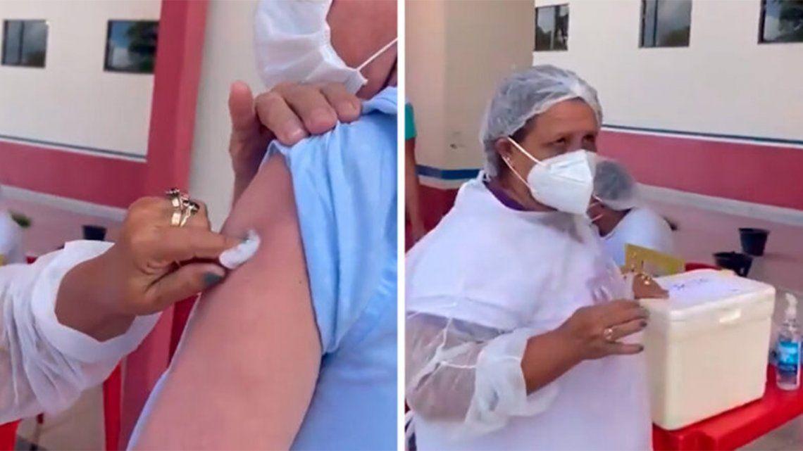 Brasil: Enfermera afirma utilizar hasta 10 veces la misma aguja.