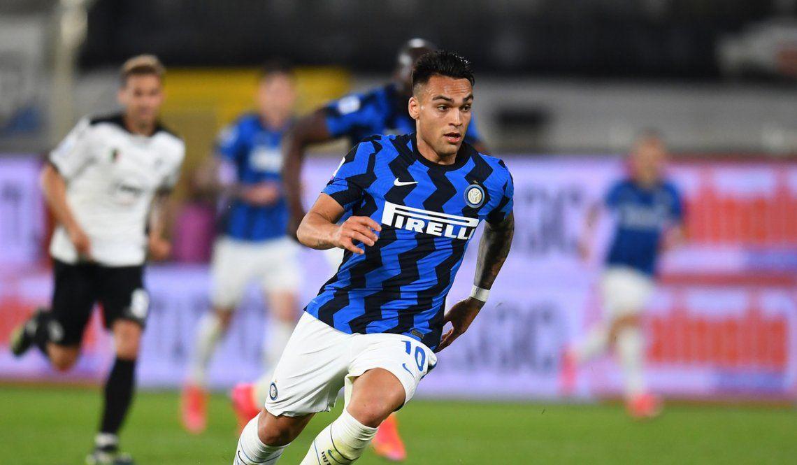 Lautaro Martínez jugó los 90 minutos en Inter.