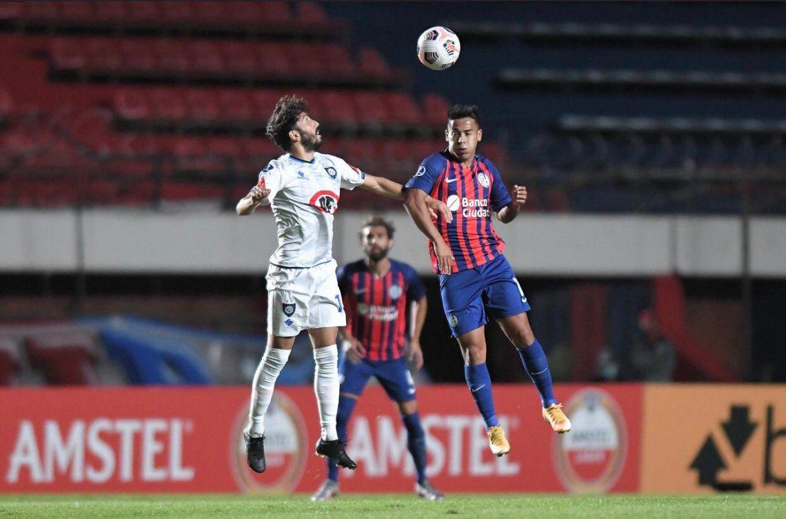 San Lorenzo perdió 1-0 ante Huachipato en la primera fecha de la Copa Sudamericana