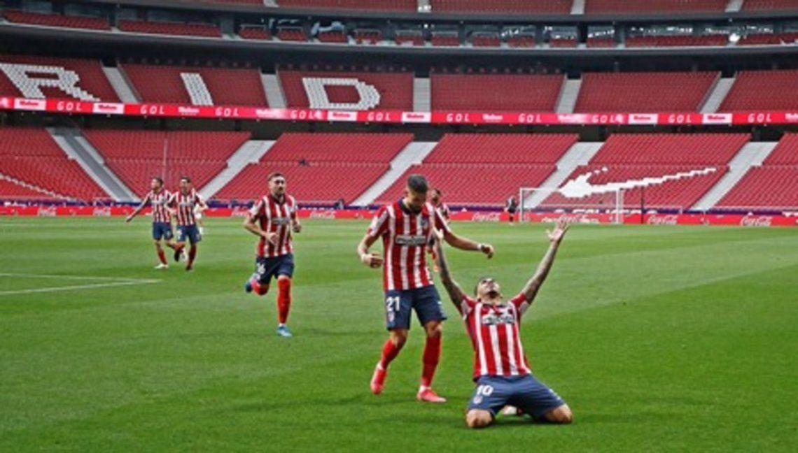 Ángel Correa marcó el primer gol de Atlético Madrid.