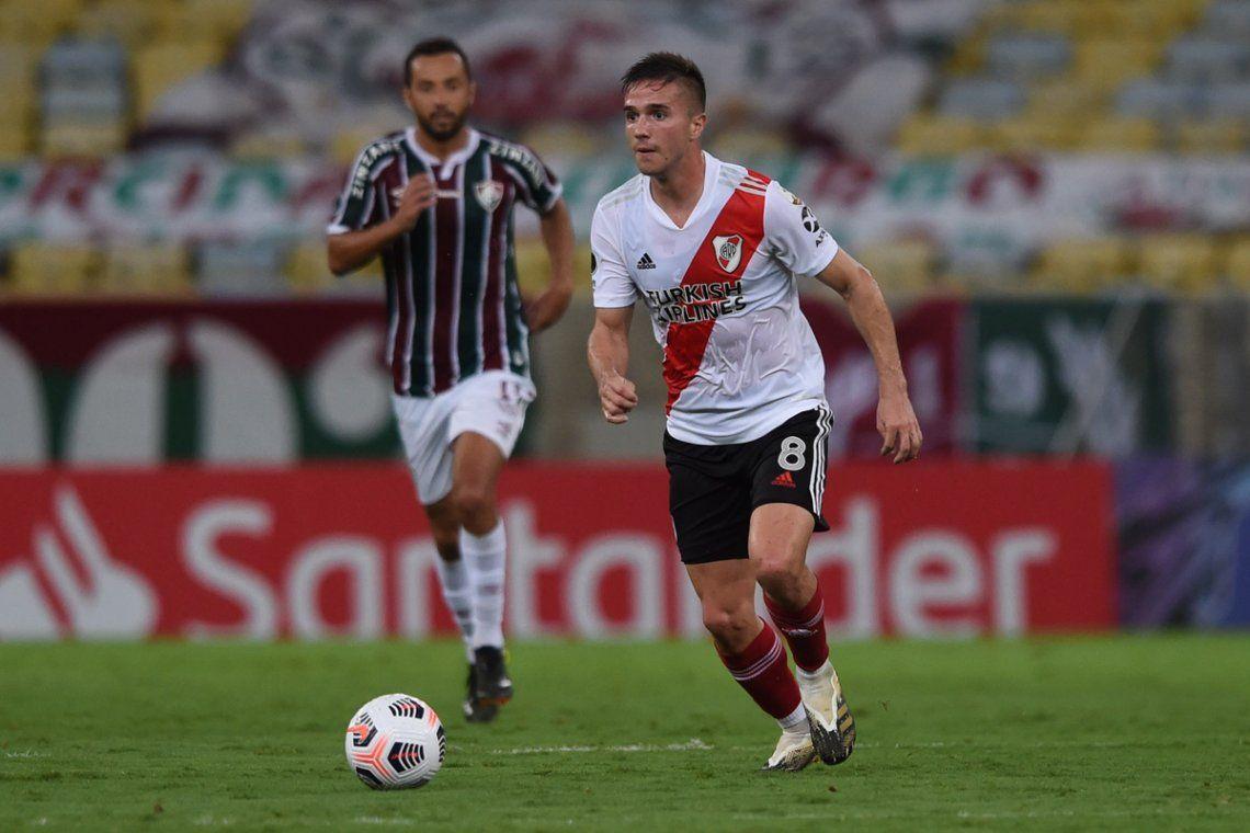 Palavecino fue una de las figuras de River en el debut.
