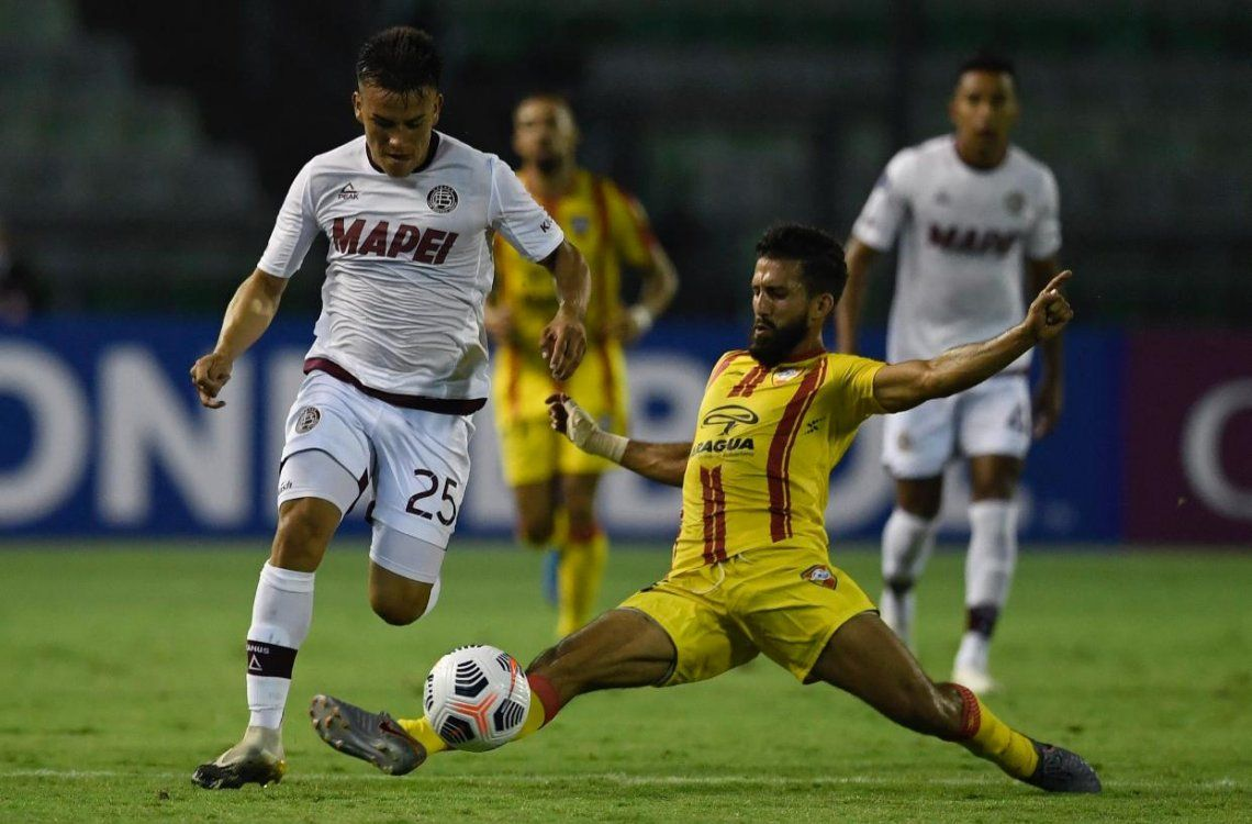 Lanús le ganó 1-0 a Aragua en su debut en la Copa Sudamericana.